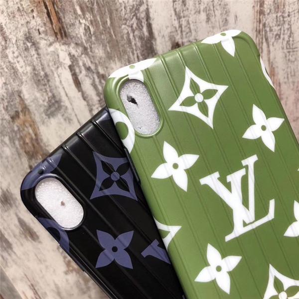 Einteiliger Luxustelefonkasten für iPhone 6S 7 P X XS Mode Blume mit rückseitiger Abdeckung des Stammdesignertelefonkastens für Geschenke