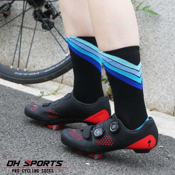 2019 professionelle radfahren socken schützen füße atmungsaktiv wicking socke outdoor rennrad nylonsocken fahrrad calcetines ciclismo