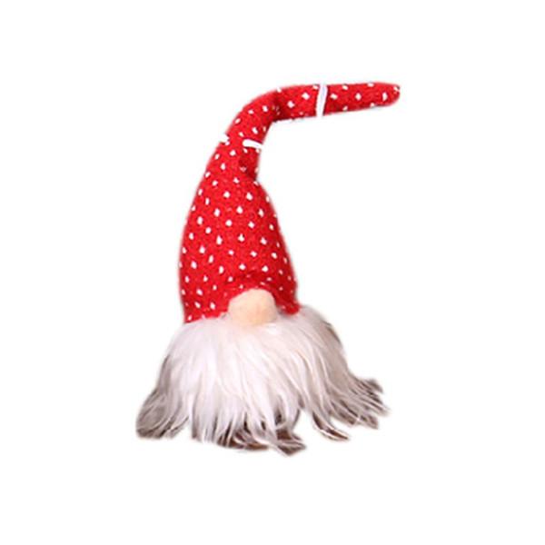 Noël À La Main Suédois Gnome Santa En Peluche Poupée avec LED Ornements De La Suspension Hanging Xmas Tree Holiday Home Party Decor