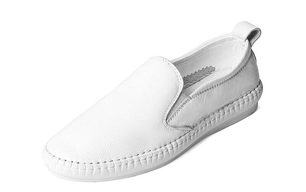 Hot Sale-Summer Women Loafers Casual Flats Heels Round Toe Black And White Loafer Shoes Pure Color Fashion Women Shoes All Size