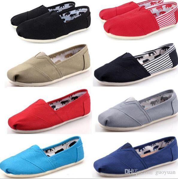 2019 Bas prix Chaussures Casual Femme / Homme Classiques TOM MRS Mocassins Toile Slip-On Flats chaussures Chaussures paresseuses livraison gratuite grande taille 35-45