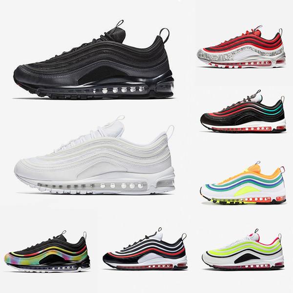 nike air max 97 Sıcak satış gül SW 97 erkek kadın koşu ayakkabıları Metalik Altın SE Şerit Mermi Üçlü Siyah beyaz eğitmenler spor mens ayakkabı sneakers ABD 5.5-11