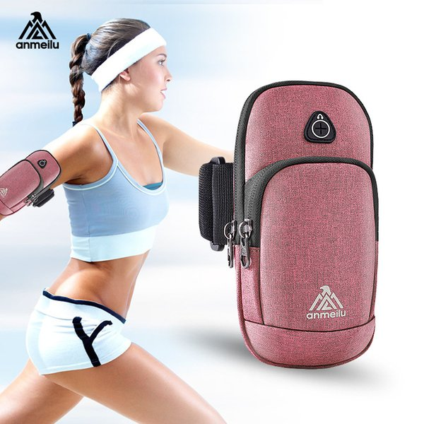 ANMEILU 6.0 inch running arm band bag for iphone XS/X mobile motion phone armband cover for running arm band holder