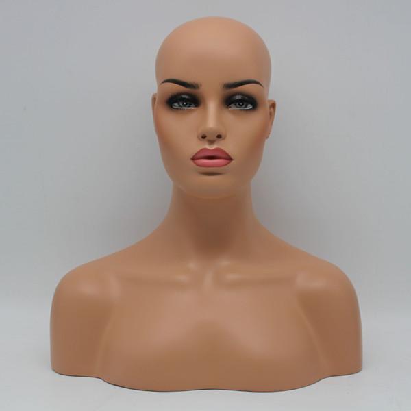 Nova sklin boa qualidade ems transporte de fibra de vidro feminino manequim cabeça busto para o laço peruca jóias e chapéu de exibição