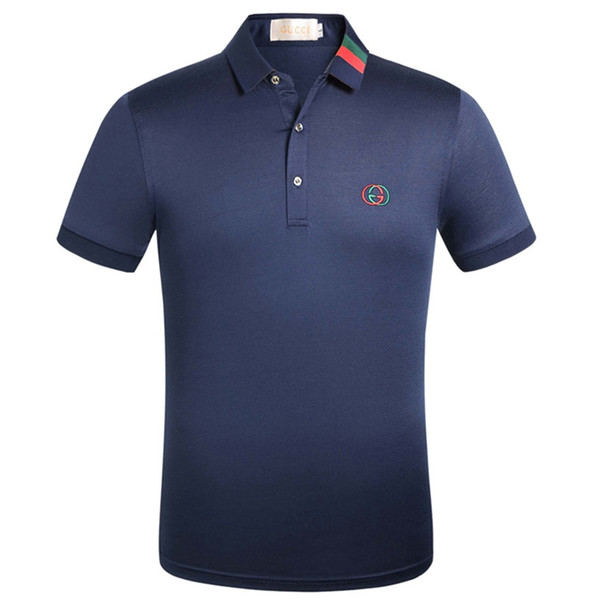 2019 summer fashion new short-sleeved high-end T-shirt men's casual comfort personality sports Polo shirt