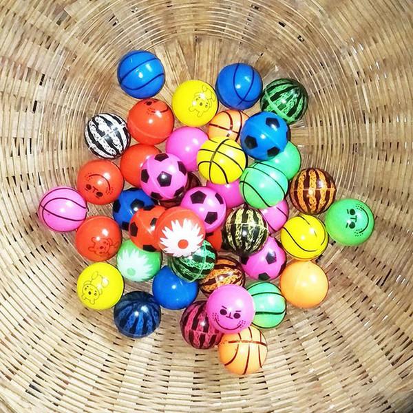 D langırt kabarık oyuncakların çocuk elastik kauçuk seken top Ching Katı kayan karışık 10pcs / lot komik oyuncak topları