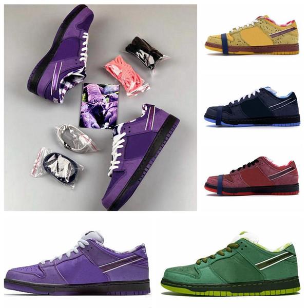 Yüksek Kaliteli Tasarımcı Kavramlar SB Dunk Düşük Kyrie Mavi Mor Yeşil Istakoz Ayakkabı Dunks Kadınlar Erkek Eğitmenler Yakınlaştırma Atletik Spor ayakkabılar Koşu x
