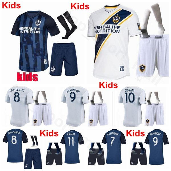 Set di calzini Los Angeles Jersey Los Angeles Jersey 2019 2019 Bambini Calcio J.DOS SANTOS LLETGET ANTUNA BOATENG BINGHAM maglia da calcio uniforme