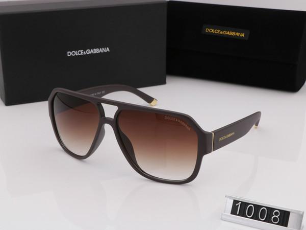 Оптово классические солнцезащитные очки отношение квадратный металлический каркас стиль винтаж открытый дизайн классической модели 1008 с коробкой случая