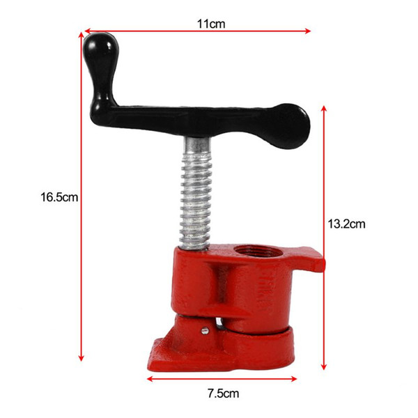 Freeshipping 2 Set 3/4 Inch Metal Clamp Set Quick Release Heavy Duty Wide Base Iron Clamp Set Woodworking Workbench Hardware