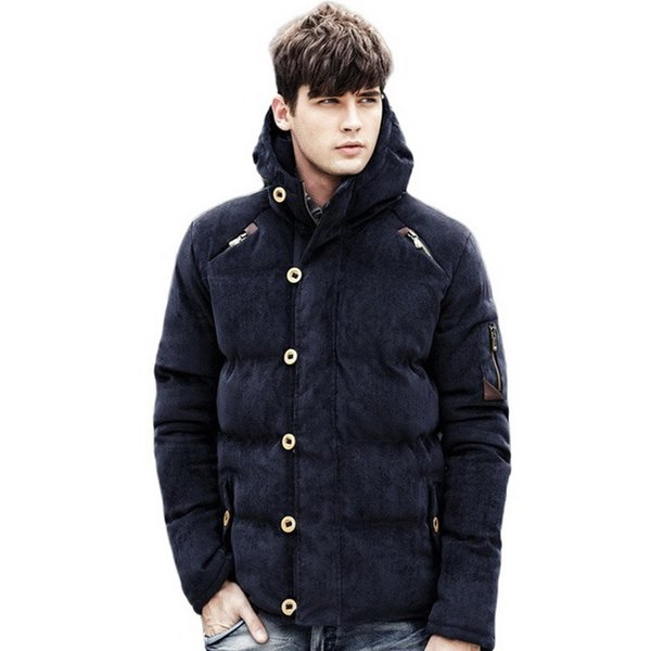 New Men Winter Jacket Coat Fashion Quality Cotton Padded Windproof Thick Warm Soft Brand Clothing Hooded Male Parkas