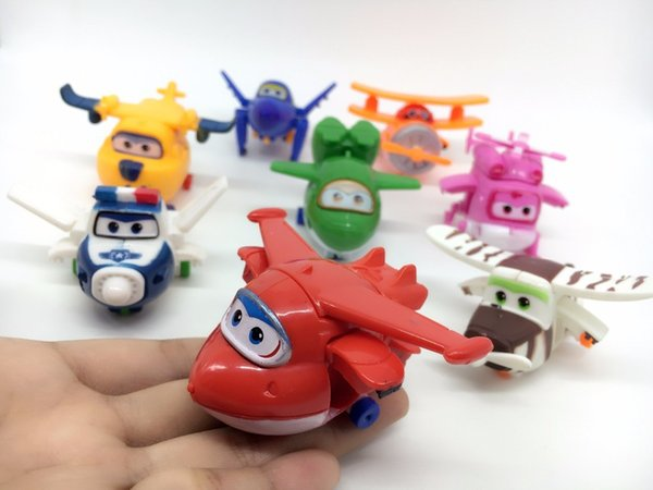 1PC Super Wings Mini Airplane ABS Robot toys Action Figures Super Wing Transformation Animation Children Kids Birthday Gift