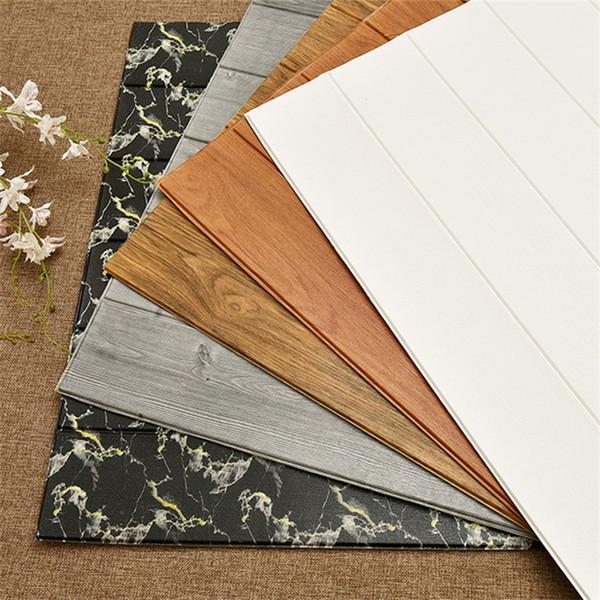 3D Grain De Bois Étanche Papier Peint Chambre À Coucher Salon TV Fond Mur Anti Collision Coloré Simple Décoration Fonds D'écran 7 5fyD1