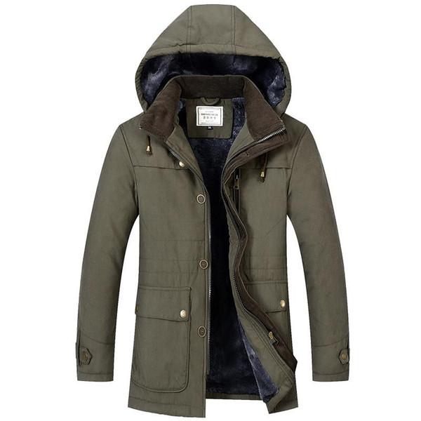 Yeni Moda Erkek Parka Mont Kalınlaşmak Sıcak Kış Yüksek Kalite Ceketler Casual Erkek Slim Fit Parka Kapşonlu Dış Giyim Boyut M-4XL