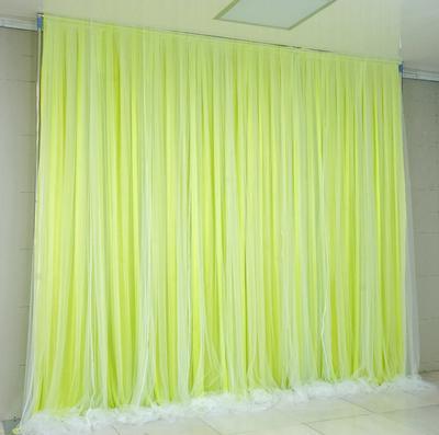 Tela verde + hilo blanco puro