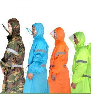 Riflettente Zaino impermeabile 4 colori Unisex Outdoor Rain Cover One-piece Pioggia Poncho Cape Jacket Escursioni Ciclismo Abbigliamento per la casa OOA6172