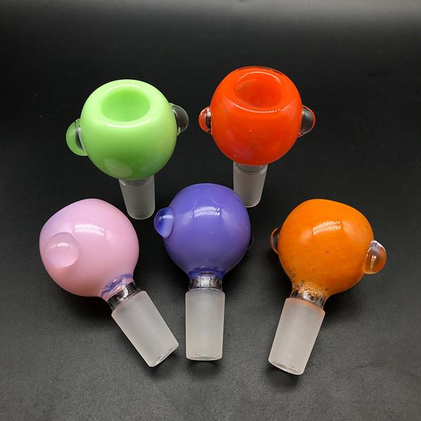 Neue 14mm 18mm Männliche Glasschüssel 5 Farben Berauschende Glasschalen Bong Schüssel Stück Tabak Rauchen Zubehör Für Glasbecher Bong Wasserpfeife Rigs