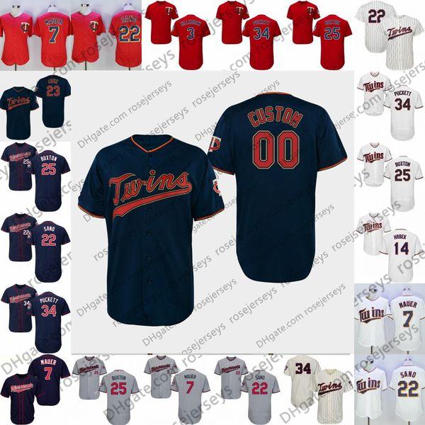 2019 Twins Jersey Minnesota # 16 Jonathan Schoop 23 Nelson Cruz 33 Martin Perez 15 Jason Castro 18 Mitch Garver 24 CJ Cron Blue