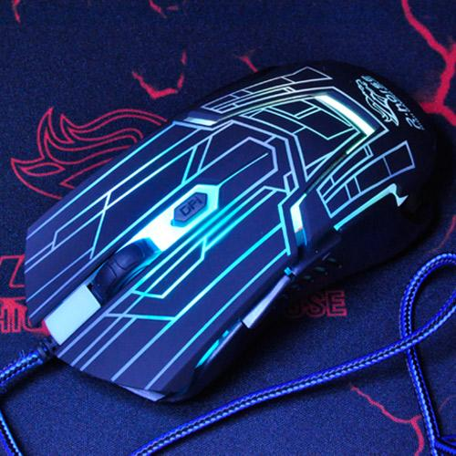 Free shipping Breathing light Optics wired USB flash mouse game office mouse CF LOL esport RGB lighting effect
