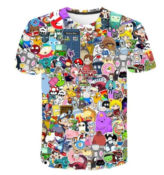2019 fashion classic cartoon adventure time naruto men women sweatshirt 3d print t shirt short sleeve pullover k1165 - from $15.92