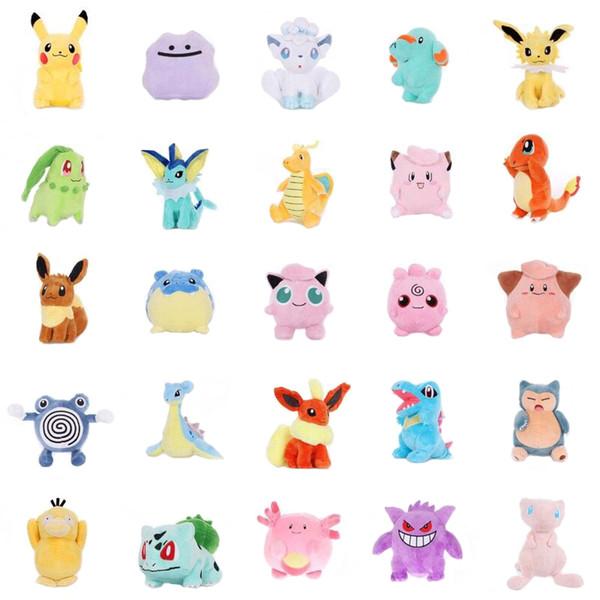 pikachu Jigglypuff Vulpix Chikorita Venusaur Eevee marill Anime peluche Artiglio macchina bambola per bambini Giocattoli morbidi regalo kawaii