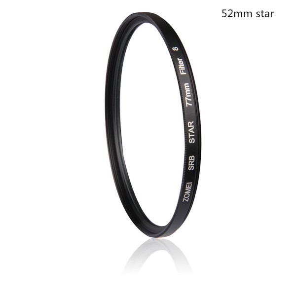 Professional Zomei 52mm 4 6 8 lineline Evening Pictures Star Filter High Definition for Canon 600D Nikon Sony Camera Lens