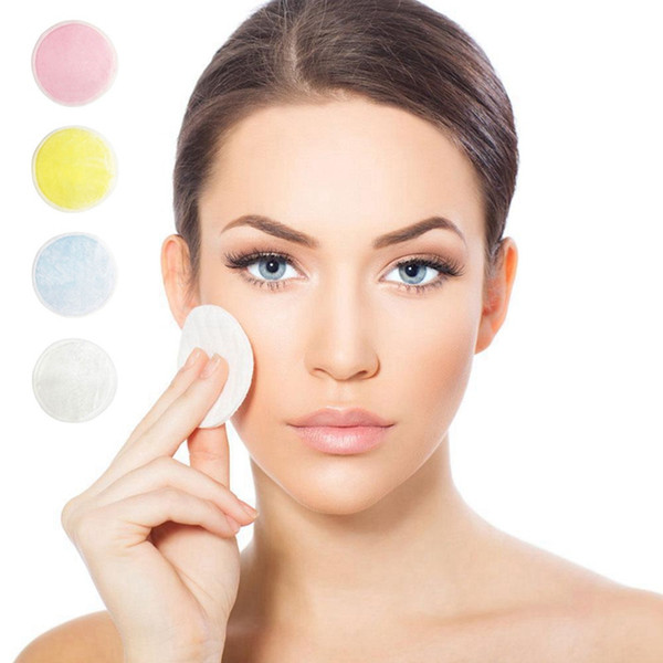Almohadilla removedora de maquillaje de algodón de bambú, cuidado de piel reutilizable, toallitas faciales, lavable, limpieza profunda, herramienta cosmética, removedor de maquillaje redondo, almohadilla HHA346