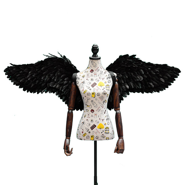 addults and children' Cute shootings props white angel wings nice black fairy wings Children' Day Wedding Engagement decoration props