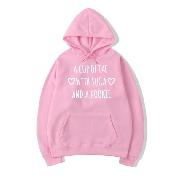 Kpop Bts Sweatshirt Women'S Autumn Winter Letters Printed Tae Suga Kookie Hoodie Harajuku Korean Fashion Sweat Femme Drop Ship
