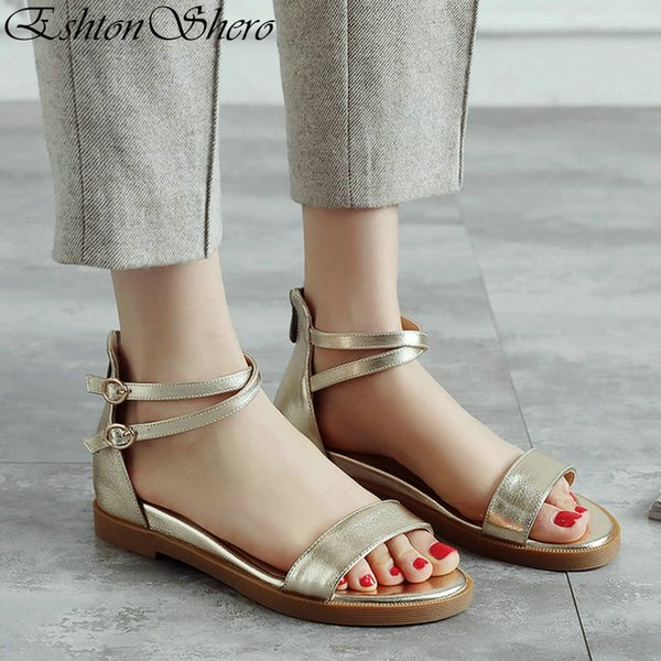 LADIES WOMENS GLADIATOR SUMMER BEACH SANDALS TOE POST FLAT SHOES SIZE 3-8