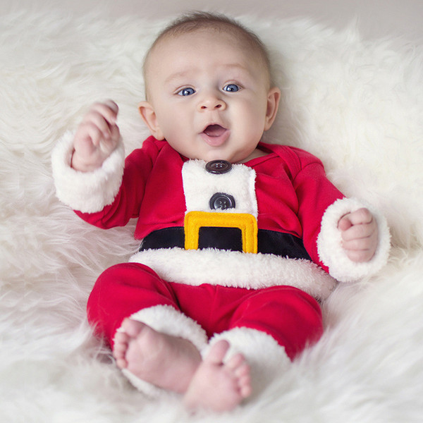 Children Christmas Clothing Set Baby Boys and Girls Christmas Suit and Dress Santa Claus Costumes Newborn Enfant