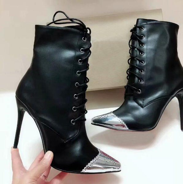 With box Fashion designer women shoes high heels bottom is red pretty girl wedding party Leather Pointed Toes high-Top Dress shoes