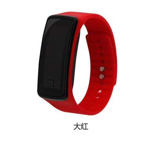 Fashion Men Women Casual Sports Bracelet Watches LED Electronic Digital Candy Color Rubber Wrist Watch for Children Kids orolog