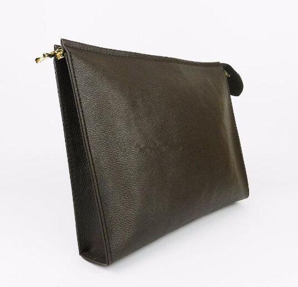 best selling top sale Wallet letter flower Coffee Black lattice mens bags women wallets Cosmetic bag zipper Handbags purses with box