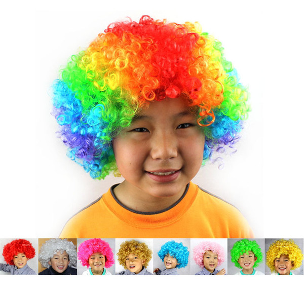 Carnival Party Wigs for Masquerade Halloween Christmas Dress Clown Costume Cosplay Football Fans Children Adult Party Hats