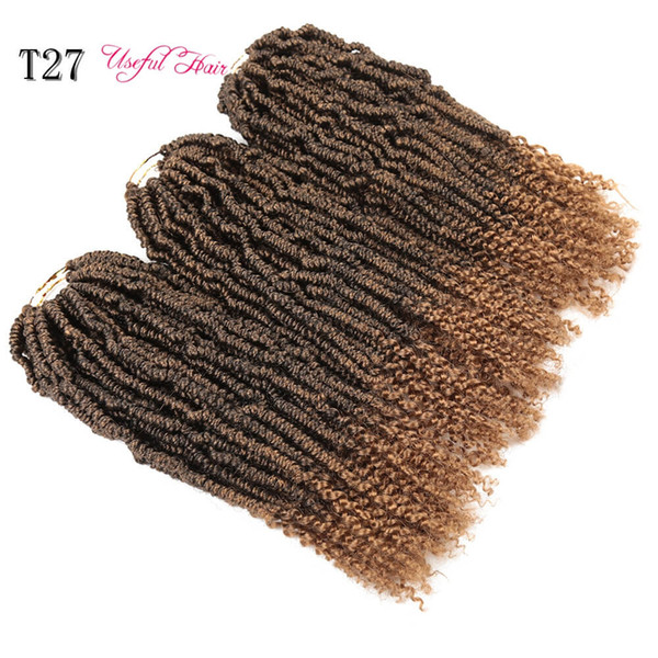 BOMBE TWIST USEFULHAIR Pre Passion Twist Crochet synthétique Bouncy cheveux longs Tresses Crotchet Ombre Noir Marron Fluffy Bombe Tressage cheveux