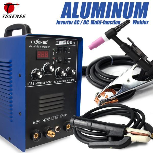 Saldatrice TIG / MMA IGBT TSE200G Inverter a onda quadra AC / DC 200A 4 Metodo di saldatura Macchina per alluminio, acciaio inossidabile, ecc.