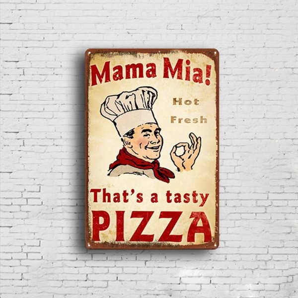 20*30cm Cook Chef Metal Tin Signs Vintage Posters Old Wall Metal Plaque Club Wall Home art metal Painting Wall Decor Art Pictures