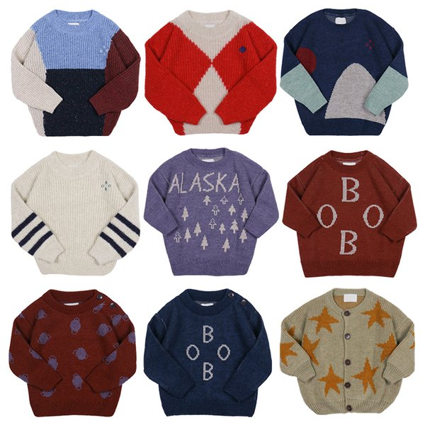 Bobo Winter Sweaters For Boys Christmas Sweater Kids Toddler Girl Clothes Knit Sweater Baby Pullover Clothes Cardigan Pre 9.5