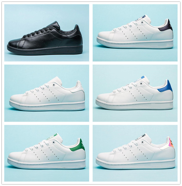 Hot Sell 2019 New Originals Stan Smith Shoes Cheap Women Men Sneakers Casual Leather Superstars Skateboard Punching White Girls Blue Shoes