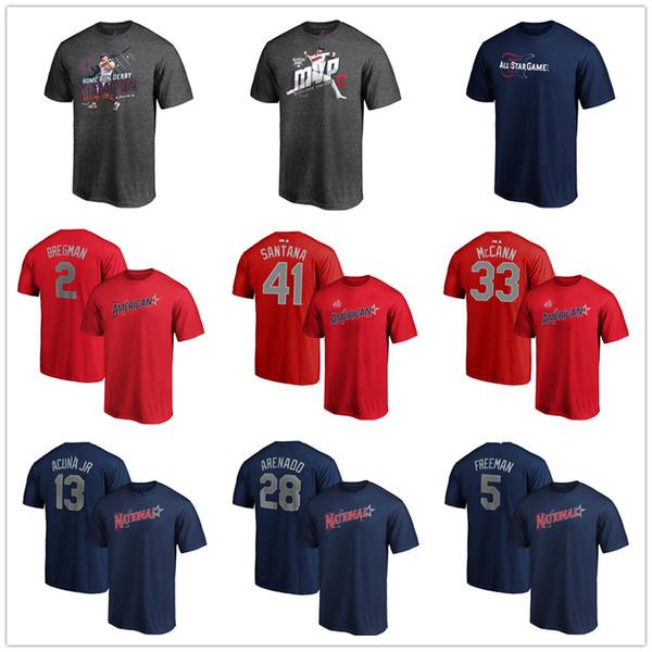 Cleveland 2019 All-Star Oyunu Bryce 3 Harper 22 Hıristiyan Yelich Freddie 5 Freeman Beyzbol erkek tasarımcı T-Shirt Tops Tees baskılı
