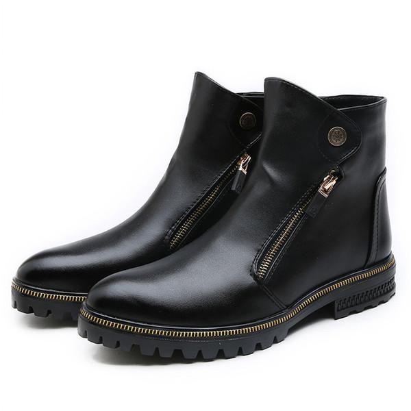De Chaussures Hommes Moto Cuir Bottes D'hiver Automne Cuir Pour Hiver En Acheter De Cheville Hommes Peluche Bottes Froid En Hommes Bottes Chaud WDIYEH29