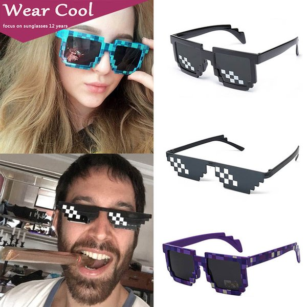 Damen Sonnenbrille Herren Brille Mosaik Vintage Ausverkauf