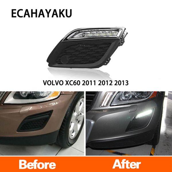 ECAHAYAKU LED AUTO DRL luci diurne fendinebbia 12v impermeabile con oscuramento stile relè per VOLVO XC60 2011 2012 2013