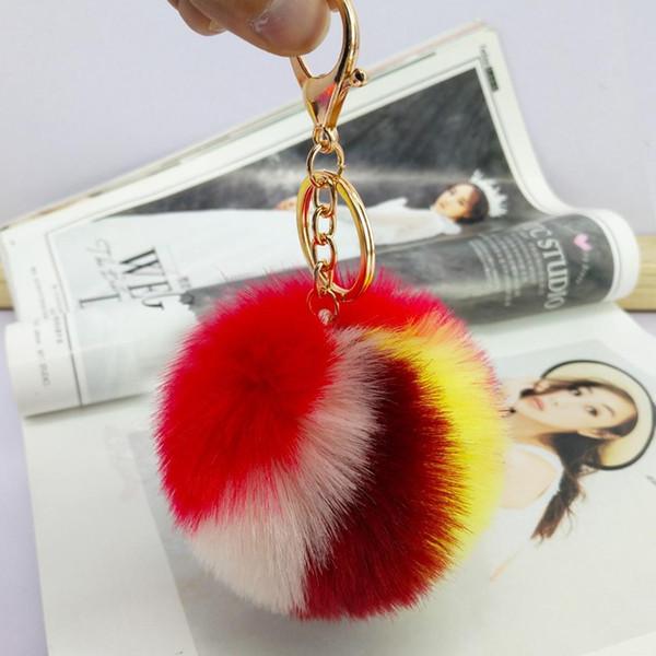 Bunter Haar-Ball Keychain spielt die beiläufigen Dekorations-Auto-netten hängenden Verzierungs-Puppen