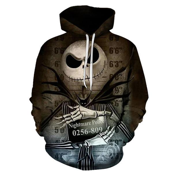 Neue pennywise 3d clown eis schädel hoodie sweatshirt männer frauen pullover hoody top