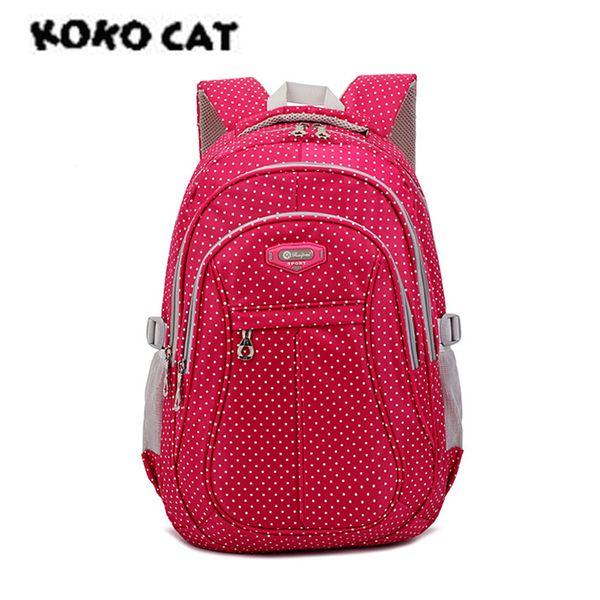 KOKOCAT Light Girl School Rucksack Cushion Back Bag Wasserdichte Schultasche für Mädchen Kinder Taschen