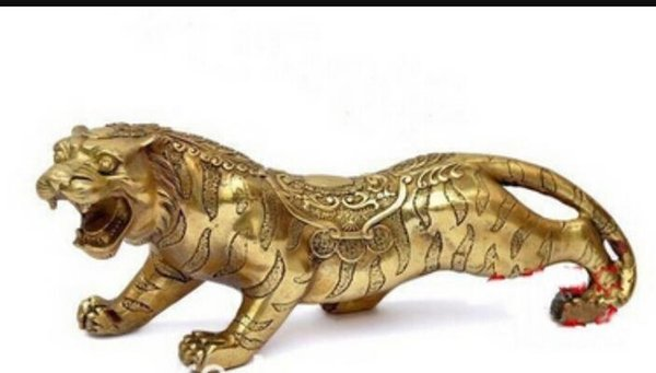 free shipping Chinese bronze lucky tiger statue * Zodiac statue*Tiger statues