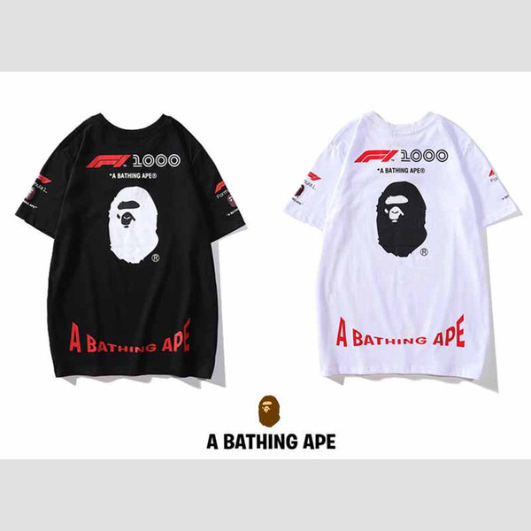 Mens Designer T Shirt Trend Letter Double-sided Printing Short Sleeves Fashion Pattern Tops Loose Wearing for 2019 Summer Hip Hop