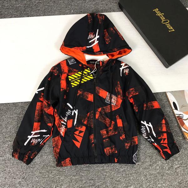 2019 Catamite Pure Cotton Jacke Lose Mantel Neue Muster Luxus Designer Jacke jungen kinder mode jacken junge blazer 0818